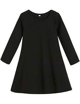 ESHOO algodón vestido Casual-Vestido de noche vestidos de las muchachas