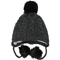 765cea6239f Miyanuby Kids Toddler Girls Boys Winter Knitted Warm Pom Pom Beanie Hat  with Earflap Soft Fleece