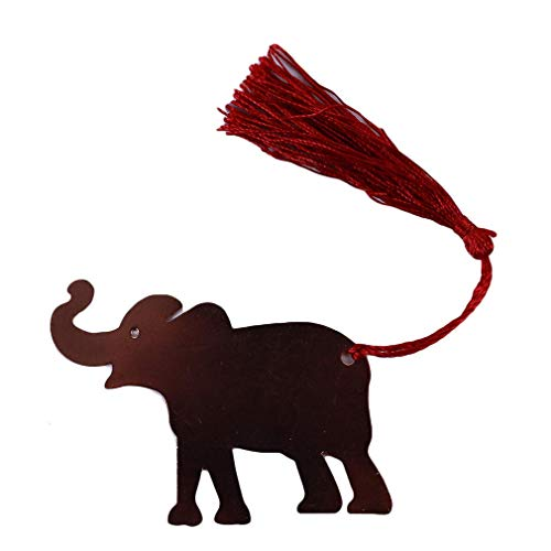 Carry stone Glücklicher Elefant Lesezeichen Metel Quaste Buch lesen Dekoration für Studenten Kinder Freunde langlebig und praktisch