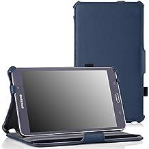 MoKo Samsung Galaxy Tab 4 7.0 / Tab 4 Nook 7 2014 Funda - Slim-Fit Multi-Angle Folio Funda para Samsung GALAXY Tab 4 7.0 Pulgadas Tableta, AZUL Oscuro (NO va a caber el Tab 3 7.0)
