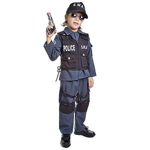 Dress Up Am-rique 327-S Policier SWAT Costume - Taille Petit 4-6