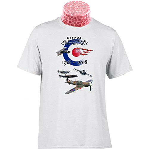 RAF CENTENARY GIFT T SHIRT. 10% donated to The Royal Air Force Benevolent Fund. Can Be Personalised. Battle of Britain Memorial Flight Planes Jet Fighter RAF 100 Gift