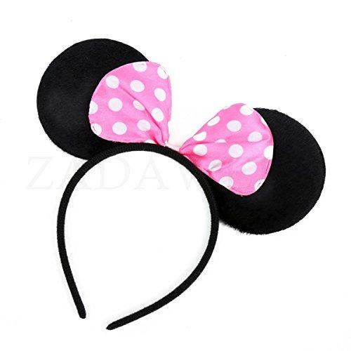 ZADAWERK® - Haarreifen - Minnie/Mickey Mouse (Rosa - Typ02)