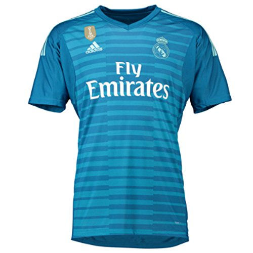 adidas 18/19 Real Madrid Away Shortsleeve Camiseta de Portero, Hombre, Azul (agufue/azuuni), S