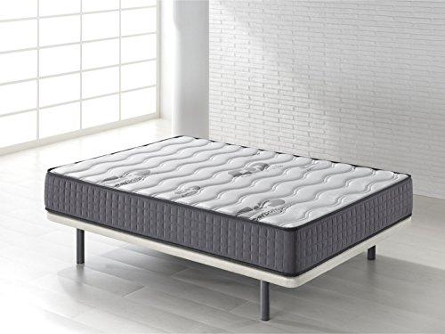 Camapolis-Colchón viscoelástico de  15 cms para cama 90x190cm, reversible con malla transpirable 3D y tejido carbono. Gran comodidad, firmeza intermedia.
