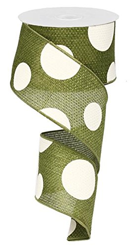 Moss Green Dot (Expressions Giant Multi Dots Draht Rand Band - 6,3 cm X 10 Meter 2.5