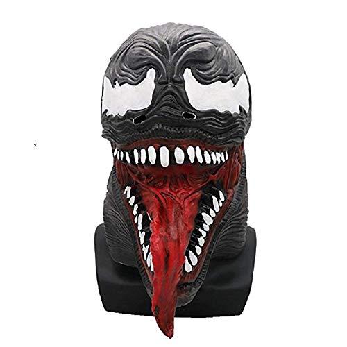 Miminuo Vollgesichtsmaske Helm Cosplay Kostüm Zubehör für Erwachsene Halloween Latex