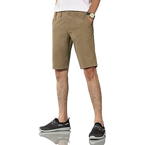 Demon&Hunter Hombre Caqui oscuro Corto Short Pantalones S9B03