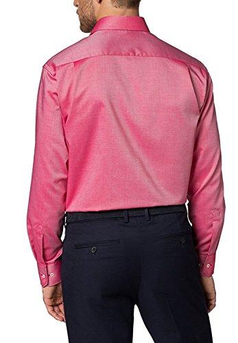 ETERNA Langarm Hemd COMFORT FIT Fantasiebindung strukturiert Korallenrot