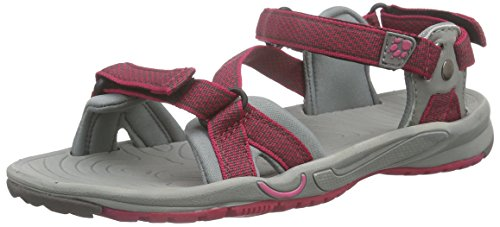 Jack Wolfskin LAKEWOOD RIDE SANDAL W, Damen Sport- & Outdoor Sandalen, Pink (azalea red 2081), 40.5 EU (7 Damen UK)