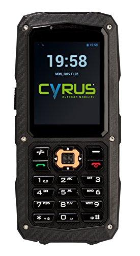 Cyrus CYR10119 CM8 Outdoor Handy (IP68, Dual-SIM, 5,58 cm (2,2 Zoll)) schwarz