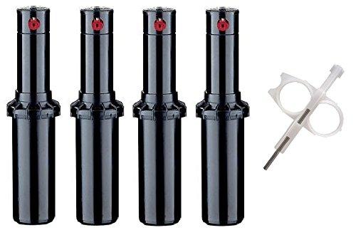 Hunter PGP-adj Rotor Sprinkler Heads - 4 Pack - Includes Adjustment tool (Hunter-sprinkler-tool)