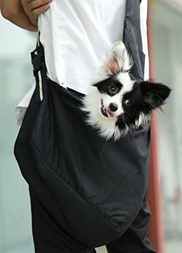 Oi Labels Dog Puppy Cat Pet Shoulder (Tote Style) Sling Bag Carrier Holder - Large (4 to 6 Kg) Red & White 2