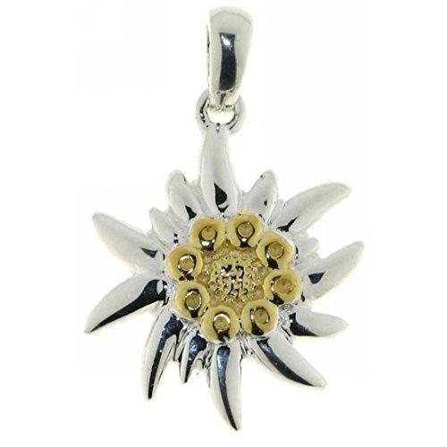 edelweiss anhaenger Derby Anhänger Edelweiß-Blüte Edelweiss massiv echt Silber 23538