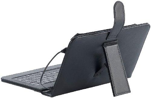 """TOUCHLET Zubehör zu 7""""-Tab: 7""""-Tablet-Hülle mit USB-Tastatur, Leder-Look (Mini Pc)"""