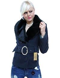 Schicke Jacke mit Fellkragen in mehreren Farben (0601) SL