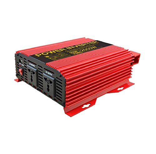 Auto Power Inverter Power Solar PV Konverter mit Zigarettenanzünder-Adapter (Rot) Power Inverter 2000W DC 12V bis 220V AC Pv-solar-power