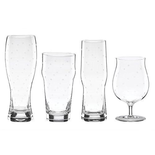 Kate Spade New York LARABEE Dot 4-teiliger Vielzahl Bier Glas Set - Lenox Larabee Dot
