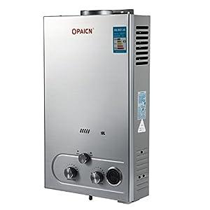 Moracle Calentador de Agua de Gas Licuado Calentador de Agua de Gas 18L LPG con Digital LCD Calentador de Agua…