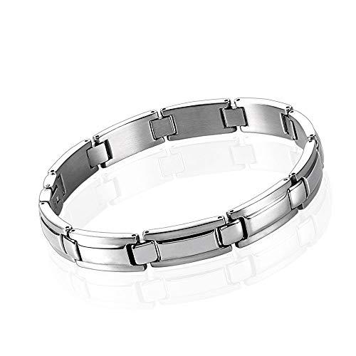 Tfsg Armschmuck Edelstahl Armband Einfache Herren Titan Stahl Silber Armband Mode Accessoires Personalisierte Geschenk