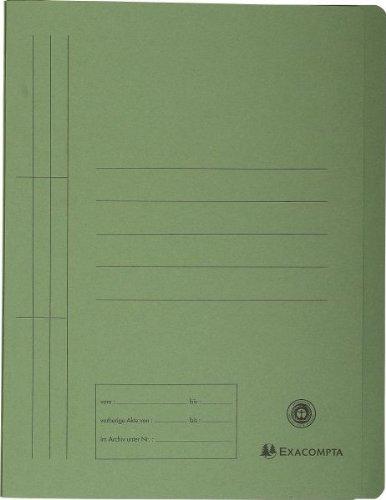 Exacompta 389725B Schnellhefter (Recycling-Karton, 250g, Organisationsdruck, DIN A4) grün