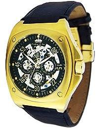 Lindberg & Sons Herren-reloj analógico de pulsera automático de cuero LS-HQ22196-699-G