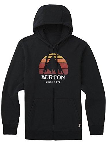Burton Herren Underhill Logo Full-Zip Hoodie True Black