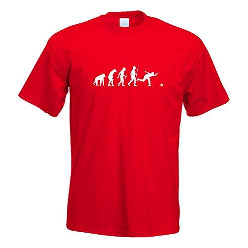 Bowling T-shirt-designs (Kiwistar Bowling Kegeln Evolution T-Shirt Motiv Bedruckt Funshirt Design Print)