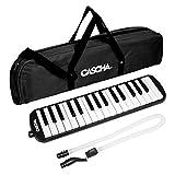 CASCHA HH 2061 Melodica mit Tasche und Mundstück, Instrument für Kinder und Anfänger, schwarz