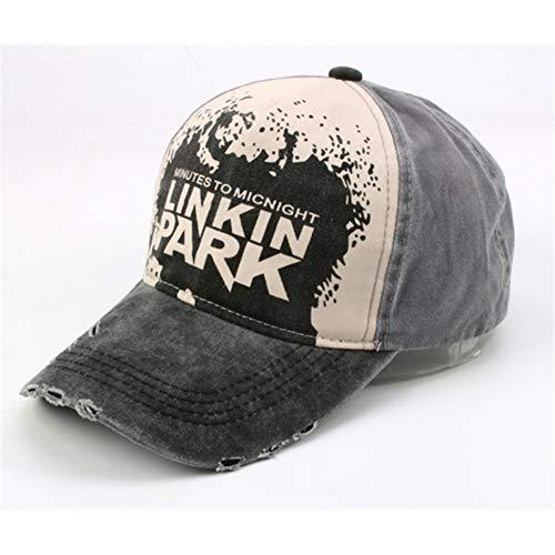 WYKDA Baseballmütze Top-Qualität Linkin Park Baseball Cap Denim Vintage getragen Hip Hop Rapper Dj Bboy Tänzer Brief verstellbare Kappe - Bboy-baseball-cap