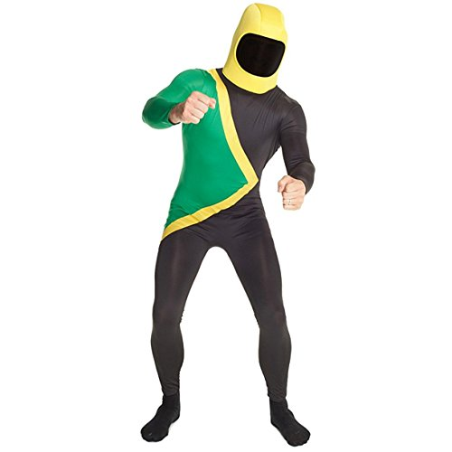 Jamaican Bobsleigh Team Morphsuit Fancy Dress Costume. 4 sizes up to XXL