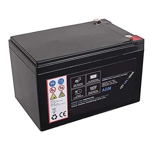 AGM Blei Akku 12V 12Ah 20HR Batterie Glasfaservlies Bleiakku Bleigel Vlies wartungsfrei Technik Universal 12000mah Lead Battery 12 Ah 12000 mah 12 Volt