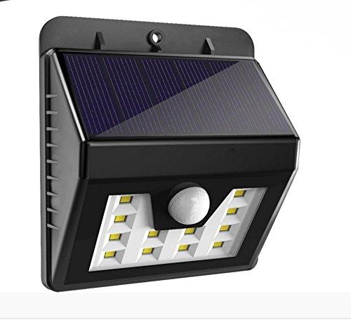 Lampe Solar Außen-Wasserfest LED Solarleuchte Induktion Infrarot menschlichen schwarz
