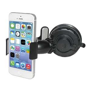 Decrescent Universelle etuikompatible 360° drehbare Windschutzscheiben-/Armaturenbretthalterung KFZ-Handyhalter Saughalterung für Apple iPhone 4, 4S & 5, Samsung Galaxy SII, SIII, Nexus, Note & Note II, HTC One X und viele mehr (Alle Telefone bis zu 90 mm Breite)