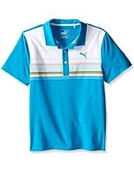 Puma Golf niños Junior Polo de rayas de clave - 57061801, M, Azul atómico
