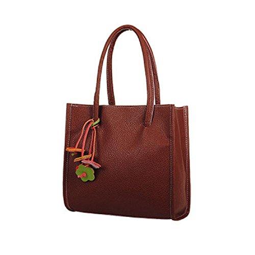 Damen Handtasche Frauen PU Leder Schulter Shopper Ledertaschen Hobo Taschen Braun