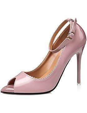 FLYRCX La moda è bella con una pregiata pelle tacchi alti dimensione europea: 34-39,34,C