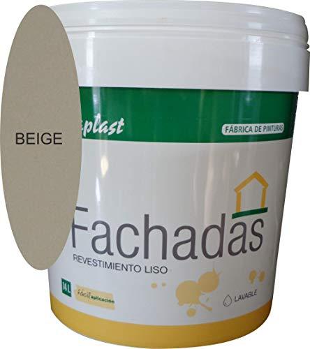 PINTURA FACHADAS COLORES Durcaplast: Revestimiento de fachadas colores mate. Extraordinaria resistencia al roce, máxima resistencia a la intemperie y al envejecimiento. (750ml, BEIGE 3)