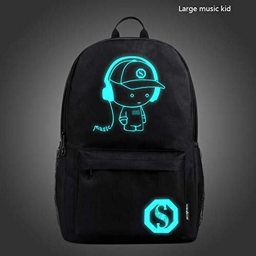 CE-LXYYD Computertaschenmittelschülertasche, männlicher leuchtender Rucksack im Freien,8 -