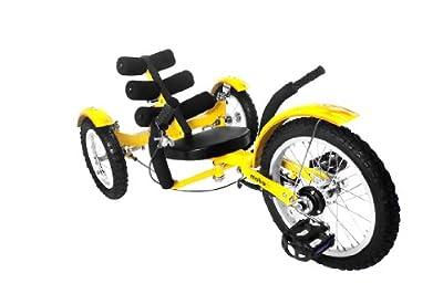 MOBO Cruiser Mobito Tretfahrzeug Kinderdreirad 4 - 10 Jahre - gelb