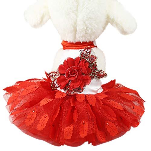 Xmiral Costume Abito Partito Vestito Costume Tutu Principessa Abiti Costume Tulle Abiti Abito Ballo Costume Costume Prestazioni Sportivo Tutu Vestito Abito Cosplay XS 1-Rosso