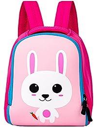 Preisvergleich für F.lashes Kinderrucksack Anti verloren Kinder Rucksack Mini Puppy Hase Löwen Druck Schule Tasche für Baby Jungen...