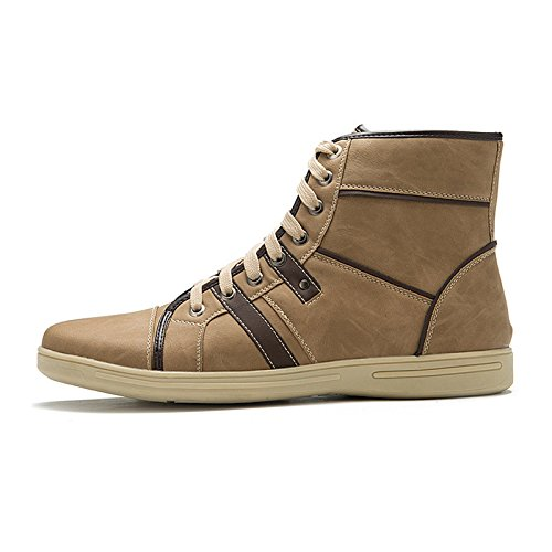 Modetrend klassische High-top Schuhe der bequemen Männer braun High-Top-Spitze Schuhe, Herrenschuhe picture color