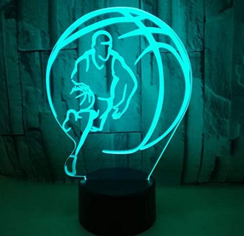 b-Lade-Beleuchtung Schlafzimmer-Dekorative Hauptlampe Ändernbasketball Trägt Spielzeug-Anzeigengeschenkideen Zur Schau ()