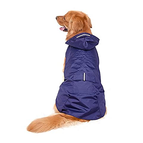 Sneff Trade Dog Raincoat Pet Rain Coat With Hoodie Waterproof Breathable Rain Jacket Pet Rain Wear With Strip Reflective For Large Big Dogs 3XL 4XL