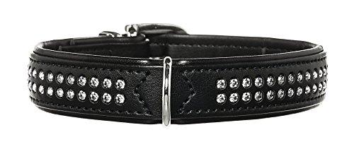 Hunter Hundehalsband Modern Art Deluxe, 50, schwarz, Kunstleder