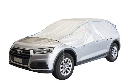 ballier Auto-Halbgarage Autoabdeckung Platin, SUV Geländewagen - atmungsaktiv - leicht - wasserdicht - reißfest - lackschonend - Größe SUL