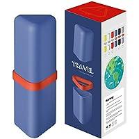 [Patrocinado]ANNE - Soporte para cepillos de dientes, taza de viaje con soporte, taza de lavado de agua, juego de vasos para gargle, senderismo, camping, viajes, hogar, baño, etc.