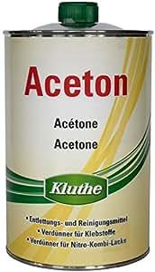 Aceton schnell flüchtiges Reinigungsmittel zum entfetten inkl.1 Microfasertuch zum Auftragen (Aceton 1 Liter)