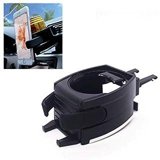 Jelinda Auto-Organizer-Halter für Autotassen mit Verstellbarem Lüftungsgitter für Softdrinks, Wasser, Kaffee mit Handyhalter für iPhone, Samsung und Etc.